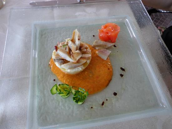 Hotel La Quartina: Seafood tartare.