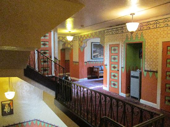 The Historic Hotel Congress: second floor hallway
