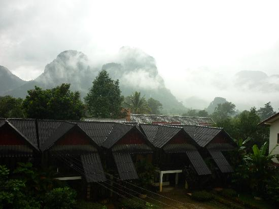 Vilayvong Guesthouse: View from my room 304