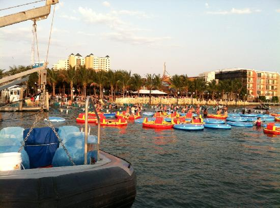 Seacrets, Jamaica U.S.A.: Outdoor swim up seating in rafts