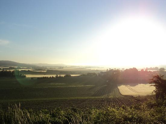 sunrise over domaine la castagne