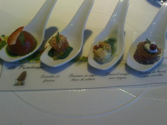 Hotel Restaurant Regis & Jacques Marcon: One of the appetizers