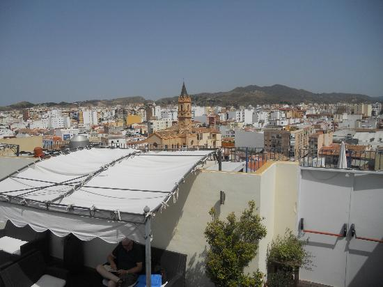 Salles Hotel Malaga Centro: View over the city from room top area