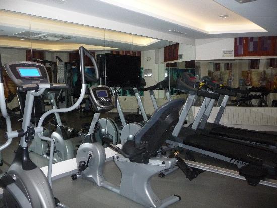 GLK PREMIER The Home Suites & Spa : salle de gym, petite mais sympa et suffisante