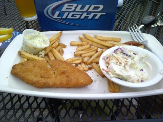 Nathaniel's Pub: Processed fish with lemons on coaster