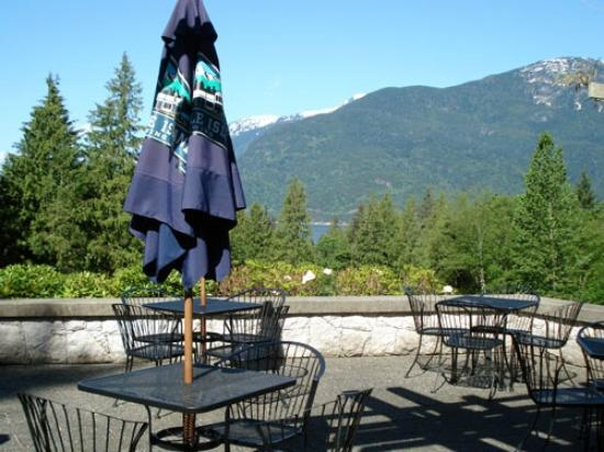 Sea to Sky Grill at Furry Creek : The scenic views from the sunny patio.