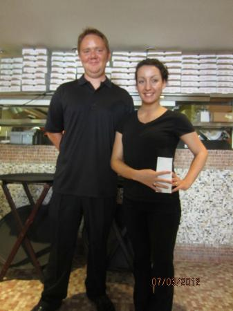 Campania Pizza: Staff, Melisa was born in Argentina & speaks fluent Spanish.