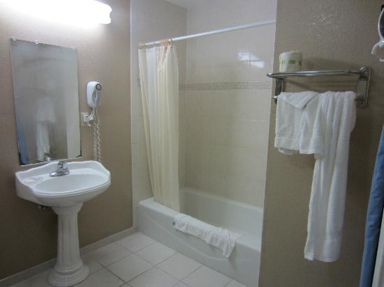 Saharan Motor Hotel: Baño