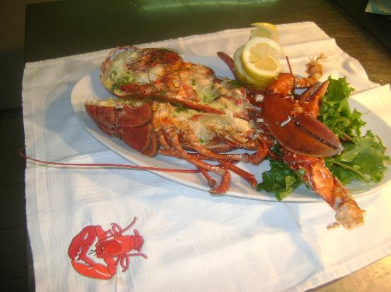Tom Crean Fish & Wine Restaurant: Poached Lobster with beurre blanc & Gaine's Organic Leaves
