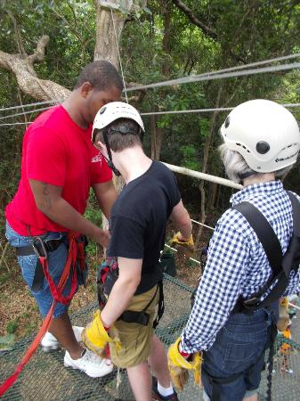 Clip N  Zip Canopy Tours: employees doing safety checks