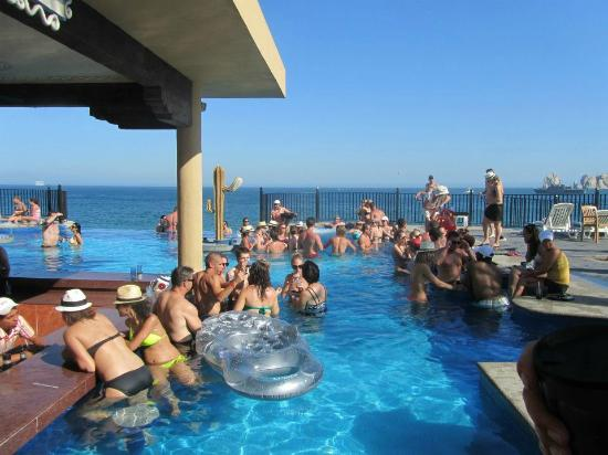 Party Pool And Bar Picture Of Hotel Riu Santa Fe Cabo