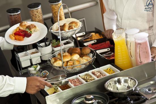 Affinity Aparta Hotel: Desayuno Buffet al Apartamento