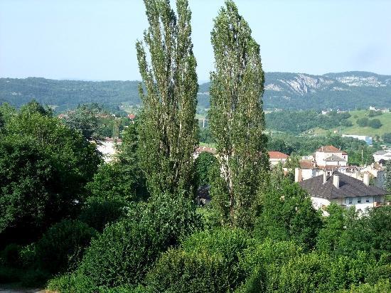 Maison Saint Anthelme : vue depuis la fenêtre