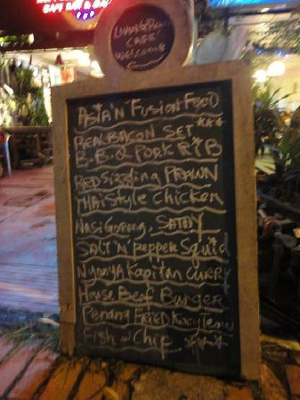 Street menu board picture of living room cafe bar - Living room cafe menu philadelphia ...