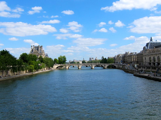 Passerelle Leopold-Sedar-Senghor: view of the seine and pont royal from the passerelle