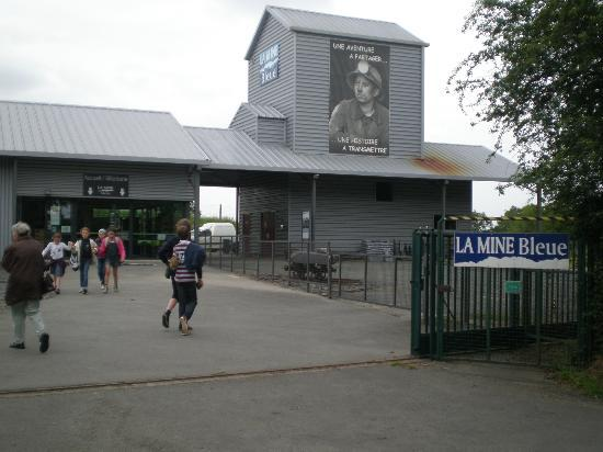 La Mine Bleue: The entrance itself