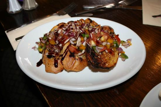 The Punch Bowl: Mixed Pepper and Red Onion Bruschetta (£5.50)