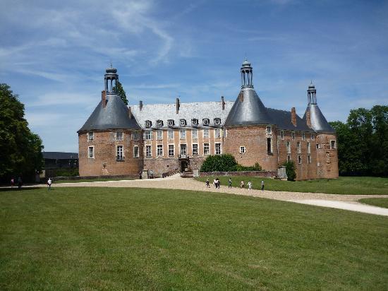 Chateau de Saint-Fargeau : Vue du chateau dans le parc