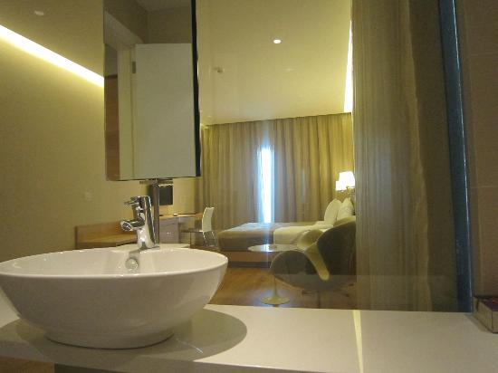 Boutique Hotel: Glass bathroom