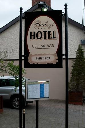 Cellar Bar @ Baileys : The sign is easily visible from the street even if the entry is not.
