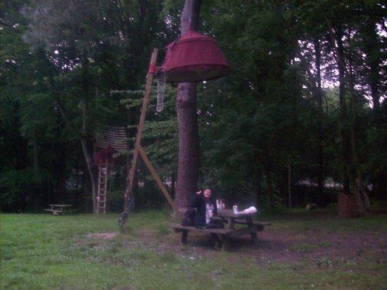 Woody Park - Tentes suspendues : Our tent!