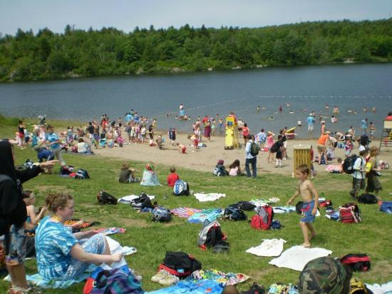 Rockwood Park: Lifeguarded Beach at Lily Lake