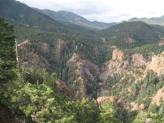 North Cheyenne Cañon Park and Starsmore Discovery Center: The Rockies to the West from Mt. Cutler