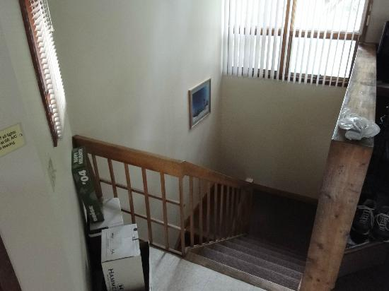 Shawnee River Village 2: Stairway, inside unit of River Village, Unit R-87