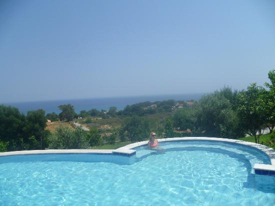 Livadaki Village Hotel: Pool and view