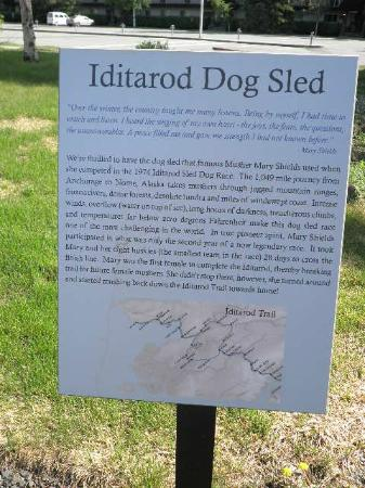 Wedgewood Resort: Iditarod sign