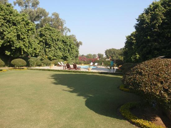 Taj SMS Hotel: Lovely manicured lawns