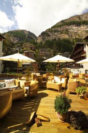 Hotel Pollux : Gartenterrasse
