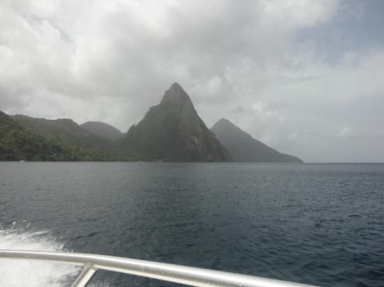 Boucan by Hotel Chocolat: View of Pitons from Boucaneer I