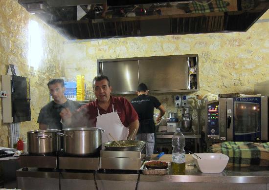 Centro di Cultura Gastronomica Molino Excelsior: cucina a vista