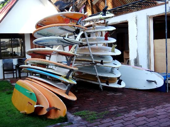 San Juan Surf Resort: Surfing boards
