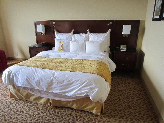 Jacksonville Marriott: Comfortable bed with updated bedding