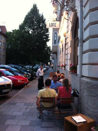 LENZ Schank und Speiselokal: Tables on side of Lenz