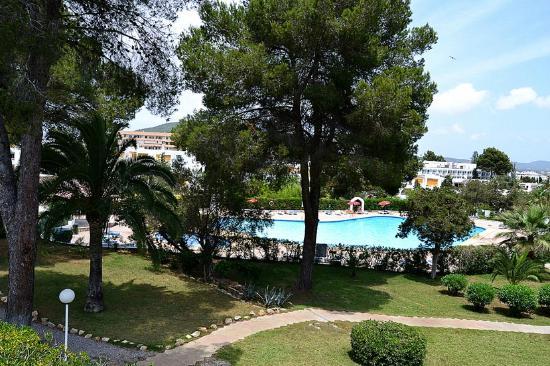 Apartamentos Siesta Mar: Piscina y jardín
