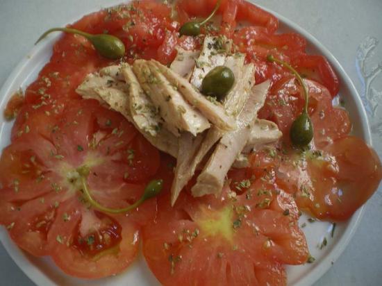 Bar Calders: Ventresca de tonyina i tomaquet raf