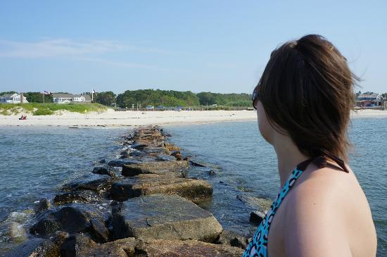 South Harwich, MA: Looking Back to the Beach