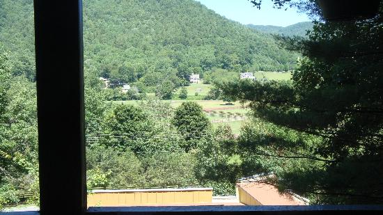 Valle Crucis Bed & Breakfast: view from room and porch