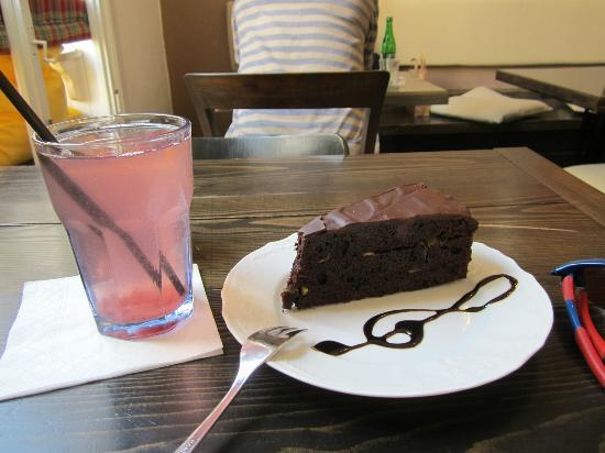 Bistro Bohemia: lemonade and chocolate torte