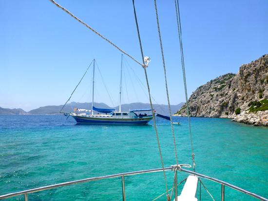 Golden Key Hotel: out at sea on the Mavi Deniz from Bozburun