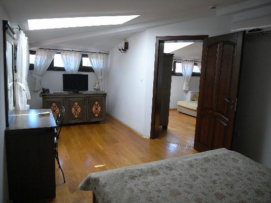 Hotel Gurko: living room with TV