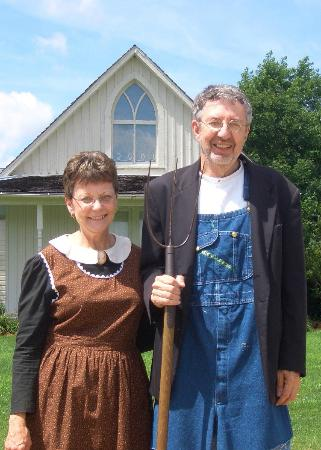 American Gothic House Our Photo Taken By The Museum Staff