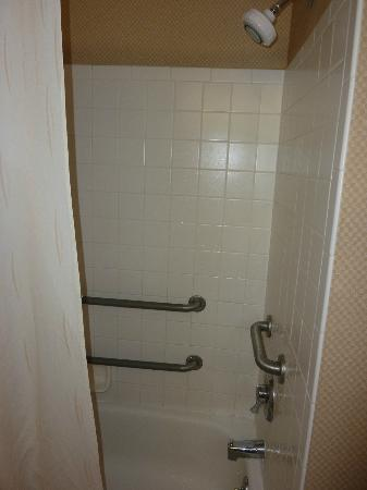 Comfort Suites - Kings Island: tub / shower area, shower worked great for us, lots of dials