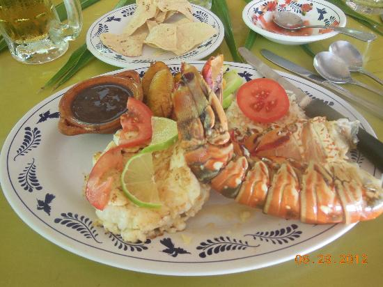 ‪‪Soliman Bay‬, المكسيك: Lobster Lunch ,which was excellent !