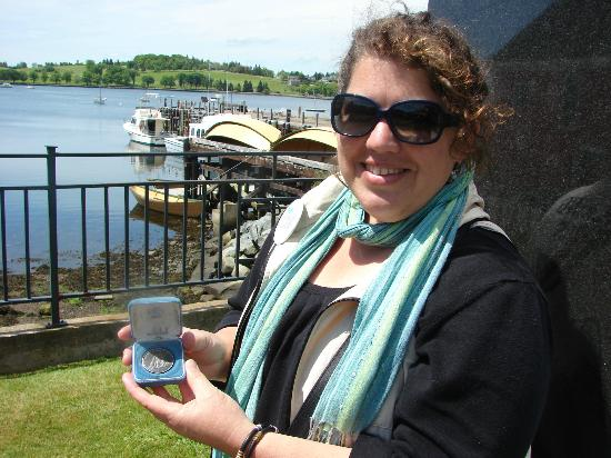 Lunenburg Walking Tours: Owner Shelah Allen on a beautiful waterfront day - story to follow when you join us.