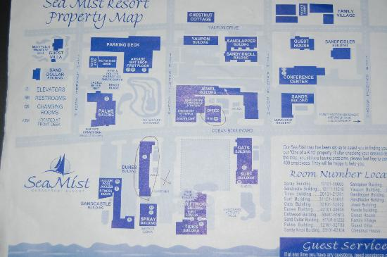 Sea Mist Oceanfront Resort: Property map