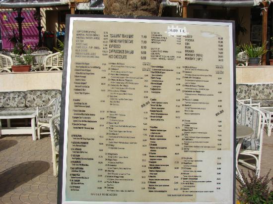 Desert Inn Hotel: Тарифы кафе